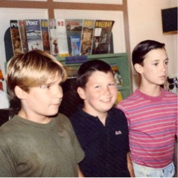 WOW!!!! Coolest thing I've found on Pinterest!!!  Corey Feldman, Jerry O'Connell, and Wil Wheaton -- come on guys, you know the movie if you were an 80s kid!!