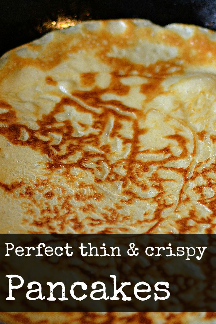 These thin & crispy pancakes are easy to make and delicious with both sweet and savory fillings. Try them this Pancake Day!