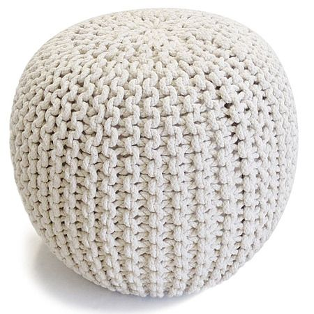 Solano Knitted Foot Stool Cream