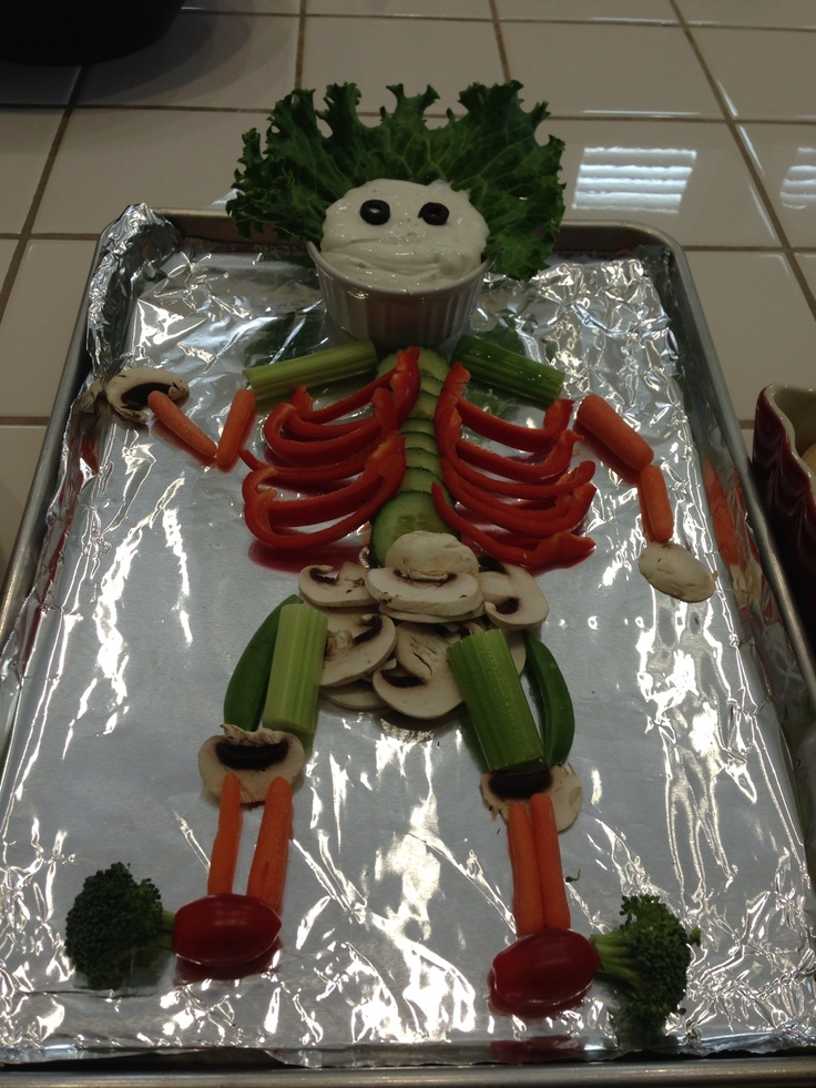 "Veggie ""Skeleton"" at my Nursing Graduation Party!"