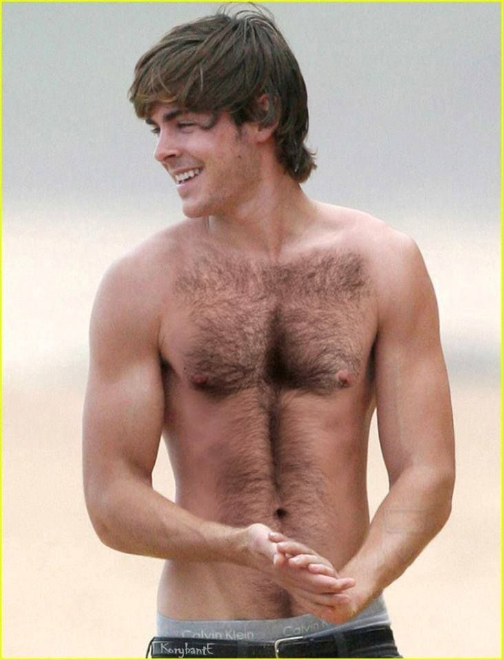 Hot Naked Men: Zac Efron's Hairy Chest