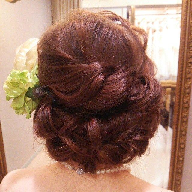 #ヘアアレンジ#ヘアセット#ヘアスタイル#髪型#ルーズ#ヘアメイクリハーサル#編み込み#ウェディング#weddinghair #bridal#hairarrange #結婚式#花嫁
