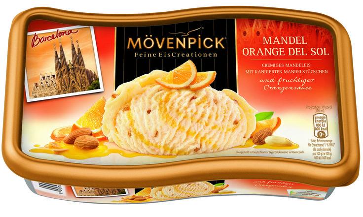 In diesem Jahr heißt unser neues Reiseziel Barcelona. Mit Mövenpick Mandel Orange del Sol mit zartschmelzendem Mandeleis,  Orangensauce und kandierten Mandelstückchen Lust kann man zumindest schon mal einen kulinarischen Kurzurlaub zu Hause genießen. #moevenpickeis #sokanneissein #barcelona #mandeleis