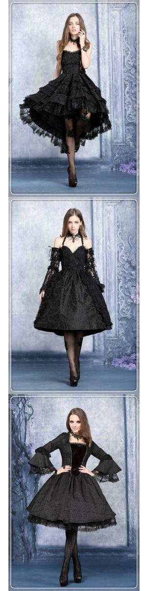 Shop black lace Victorian gothic lolita dresses at RebelsMarket!