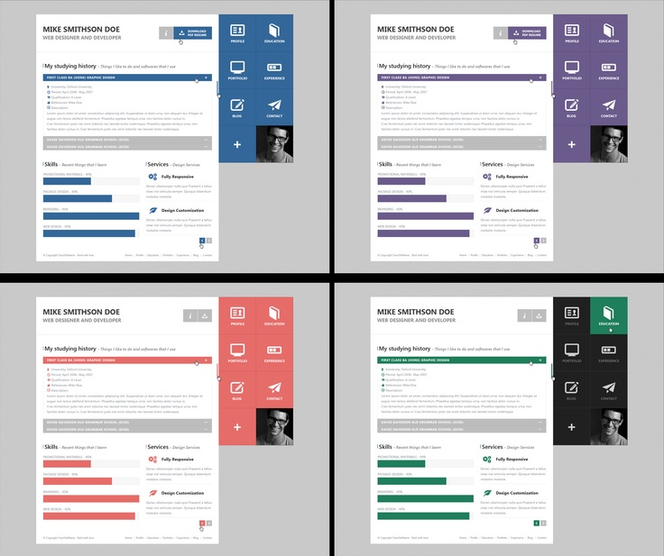 230 best PSD Website Templates images on Pinterest Ideas, Board - resume website template