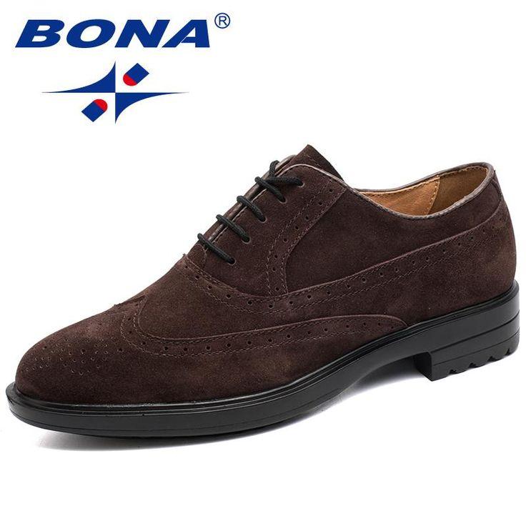 BONA New Typical Style Men Formal Shoes Lace Up Round Toe Men Oxfords Comfortable Men Shoes Breathable Men Office Shoes