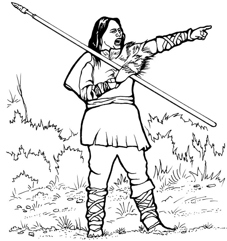 American Indians Hunter-Gatherers Coloring Pages