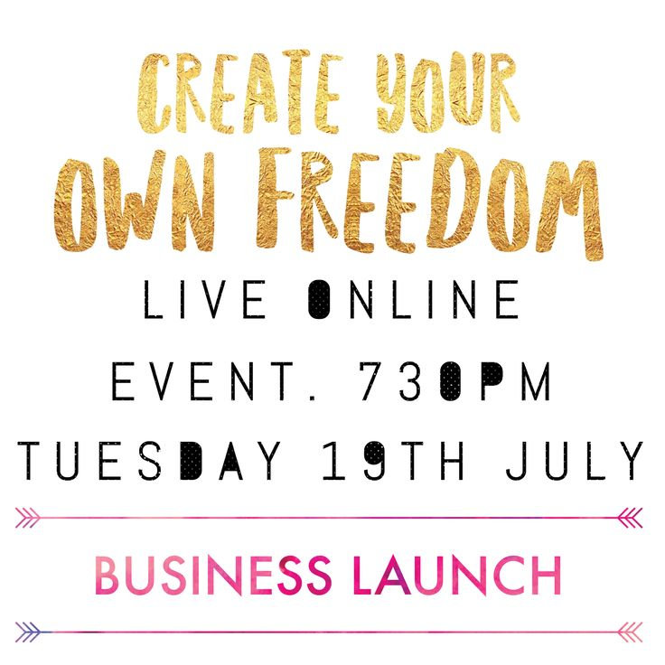 Create your own freedom business launch event tonight! Facebook.com/missnkdfoods