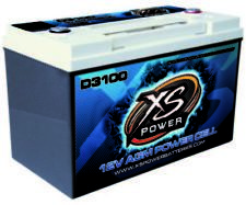XS Power D3100 5000 Amp AGM Power Cell Car Audio Battery + Terminal Hardware
