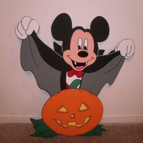 Mickey mouse as vampire halloween yard art decorations..