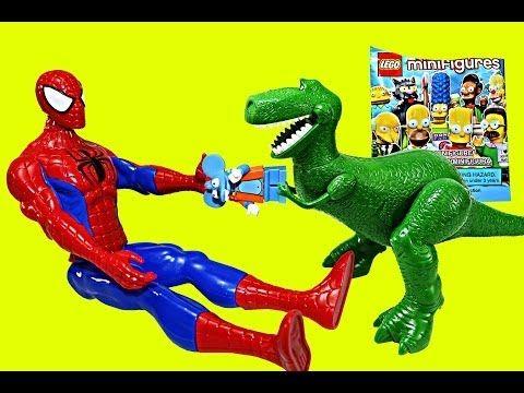 Lego Surprise Bag Superheroes Spiderman Toy Story Rex Simpsons Blind Bag Stop Motion - YouTube