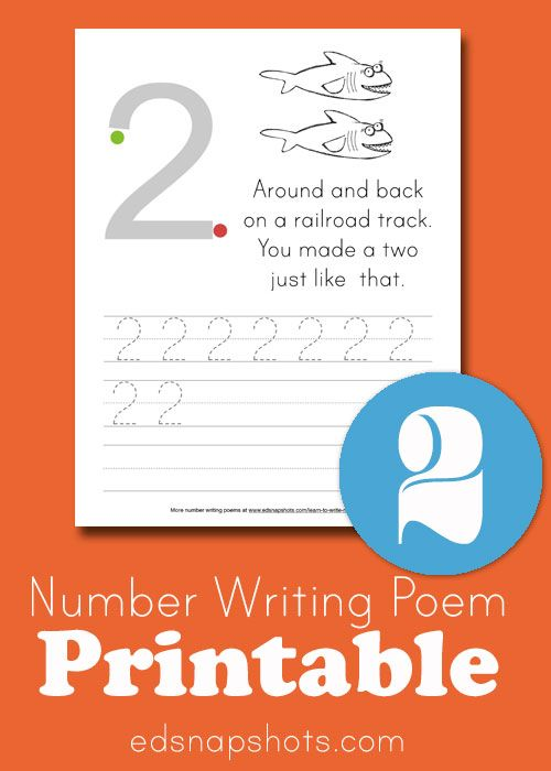 Learn to Write Numbers: Number Two printables and ideas.