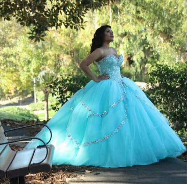 Quinceanera Dresses Blue | Quinceanera ideas |