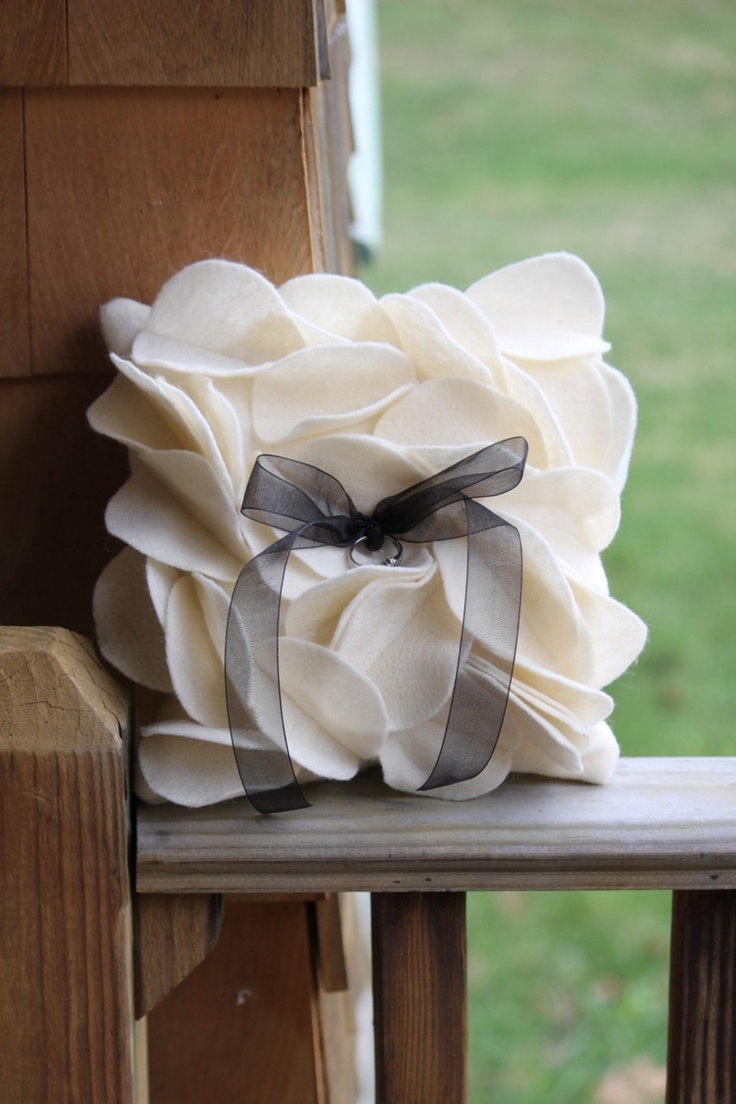 Beautiful ring bearer pillow. If you want the best officiant for your Outer Banks, NC, ceremony, contact Rev. Barbara Mulford: myobxofficiant.com/