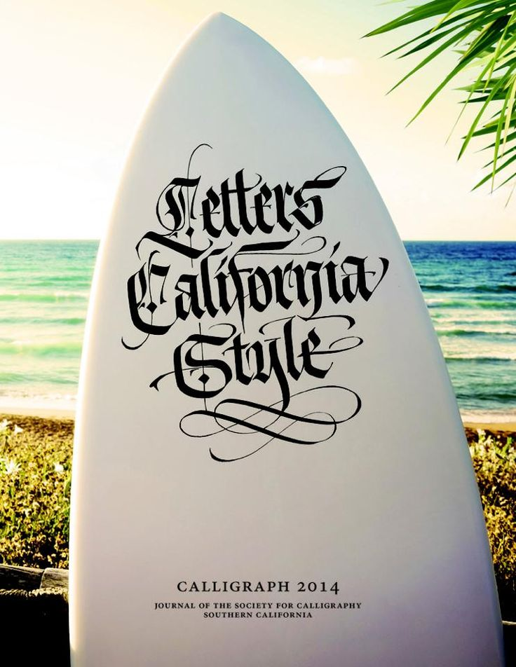 Letters California Style by Luca Barcellona