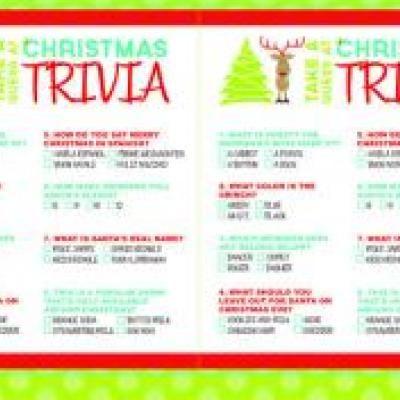Christmas Trivia Printable Games {Christmas Activities}