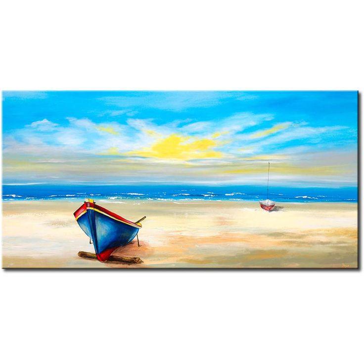 Ręcznie malowany pejzaż jest nie tylko ekskluzywną dekoracją ścienną, ale również oryginalnym pomysłem na prezent! :)  #obrazy #ręczniemalowany #abstrakcja #pejzaż # morze #pomysłnaprezent #artgeist