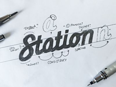 "Sketching a ""Station"" iteration"