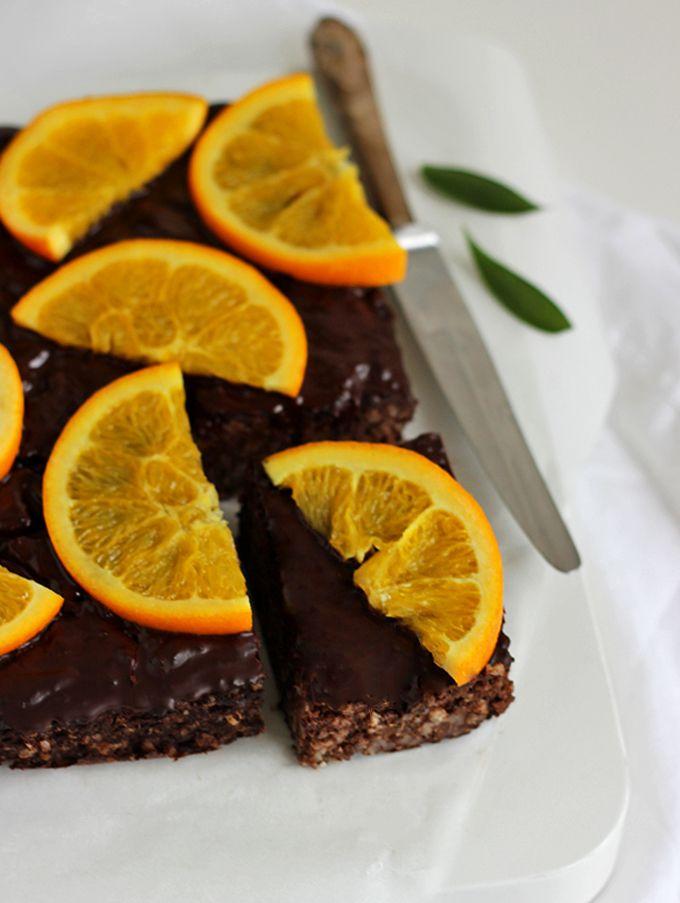 Jaglane brownie z batatem i pomarańczą