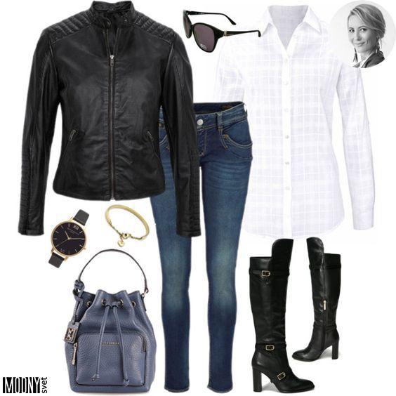 Čierna kožená bunda – MODNYSVET