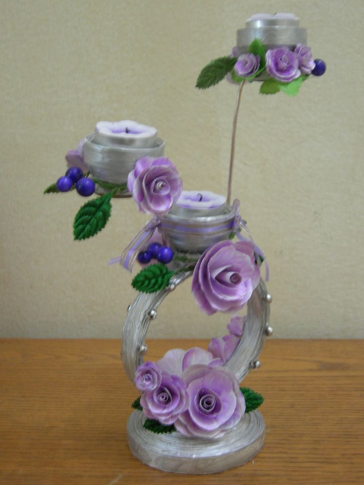Best out of waste paper decorative candle stand for Decoration with waste bottles