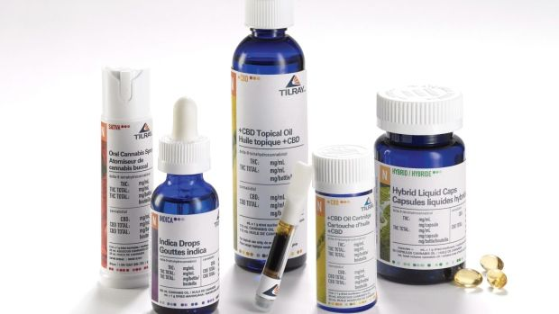 Assorted cannabis oil products are shown in a handout photo.