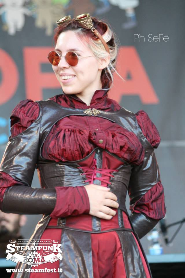 Muame Couture www.steamfest.it #steampunk #beauty #fashion #lady #dieselpunk #roma #steamfest #gothic #festival #burlesque