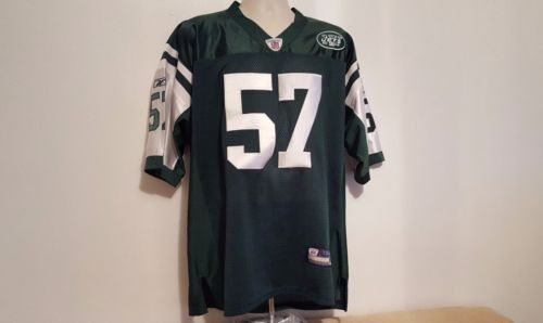 Bart-Scott-57-NY-Jets-Reebok-On-Field-Men-039-s-Jersey-Size-52