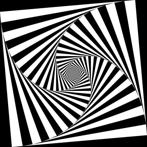 Optical art, optical illusion.