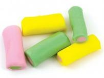 Haribo Rhubarb and Custard-Haribo rhubarb and custard are delicious sticks of fruit flavoured sweets. With a very distinct rhubarb and custard flavoured middle, you'll be dipping in for more after every one.
