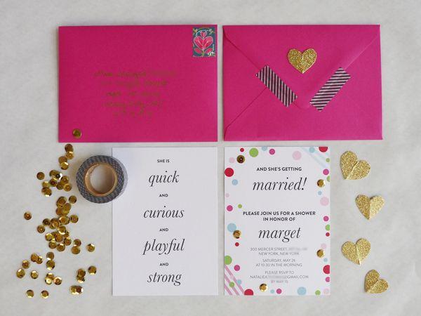 kate spade inspired stationery suite em for marvelous b bridal shower pinterest bridal showers - Kate Spade Wedding Invitations