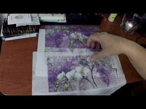 (42) Kép nyomtatása és transzferezése szalvétára dekupázs technikához - YouTube