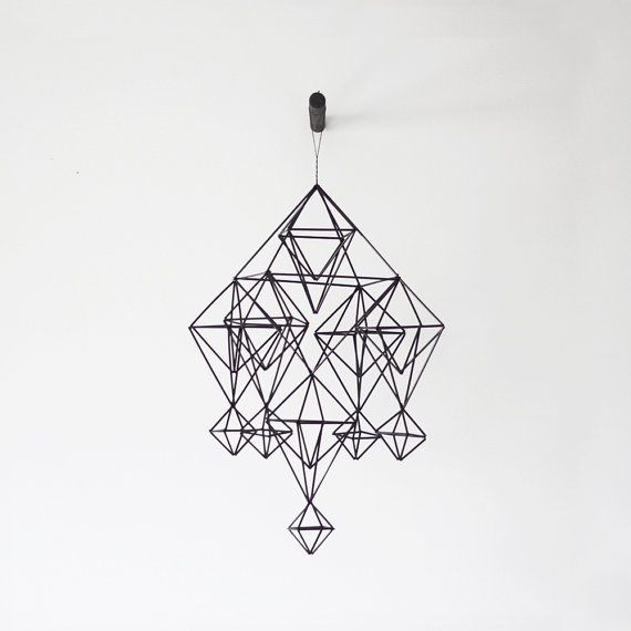 himmeli no 5  hanging mobile  modern mobile  sculpture  by HRUSKAA, $97.00