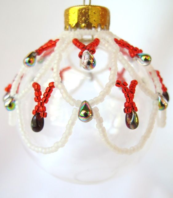Ornament Covers & Ornaments on Pinterest | Christmas balls, Beaded ...