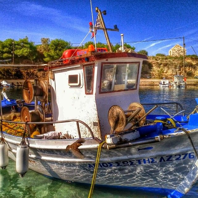 Fishing boat in Tsilivi on the Greek Ionian island of Zakynthos  #Zakynthos #Zante #Greece #Greekislands #boats #visitgreece #travel  #hdr #photography
