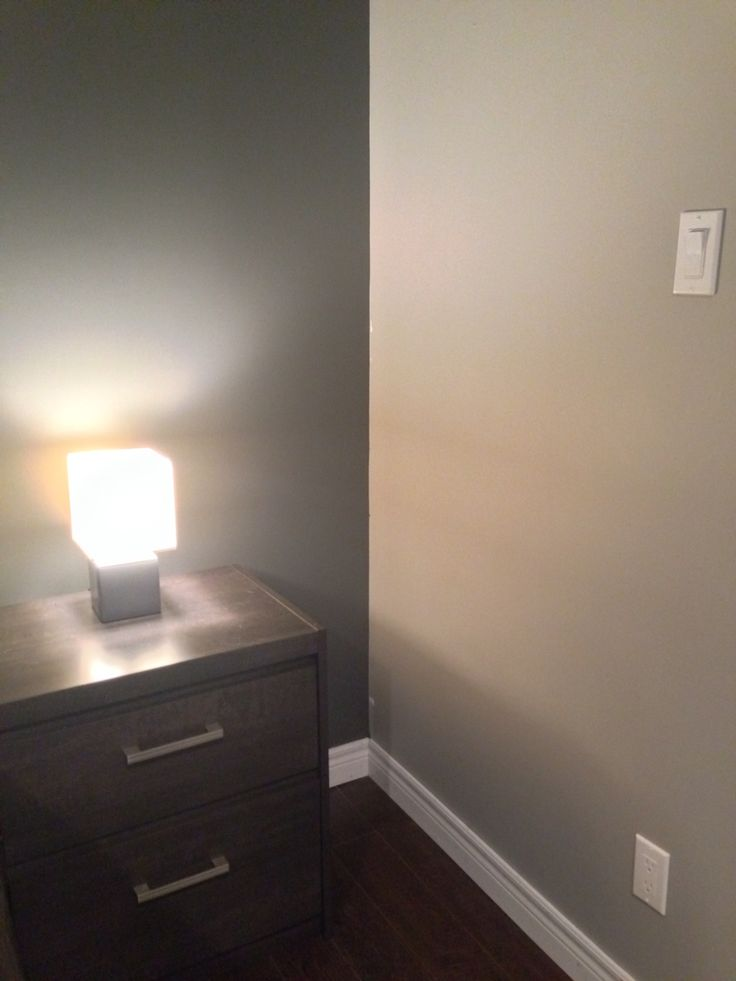 Benjamin Moore Stone Harbour, BM Kendall Charcoal Accent Wall   Gives Any  Small Space Instant