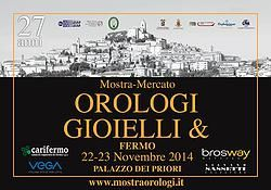 Mostra Mercato Orologi e Gioielli 22-23  Novembre a Fermo