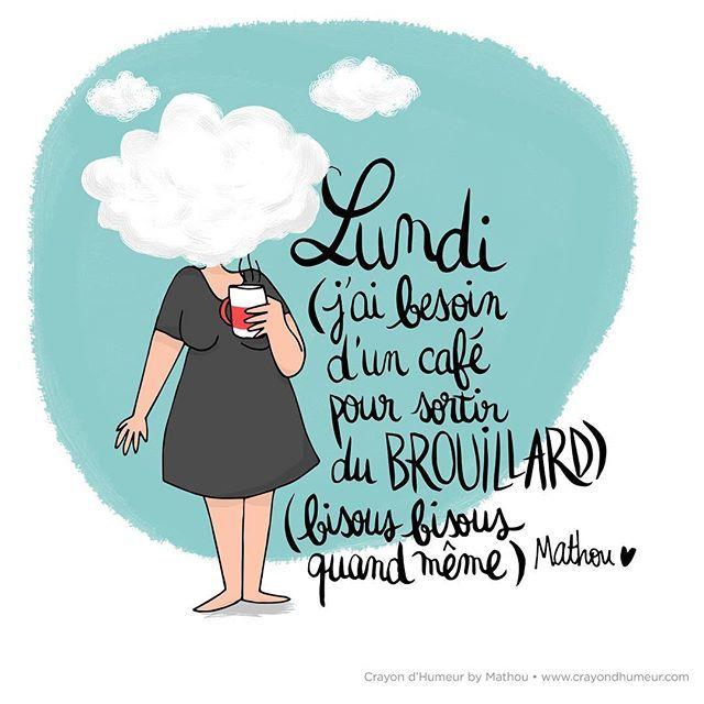 { BROUILLARD } Un café/thé et ça repart ! Bon lundi les bichons, belle semaine ! Via @mathouchou