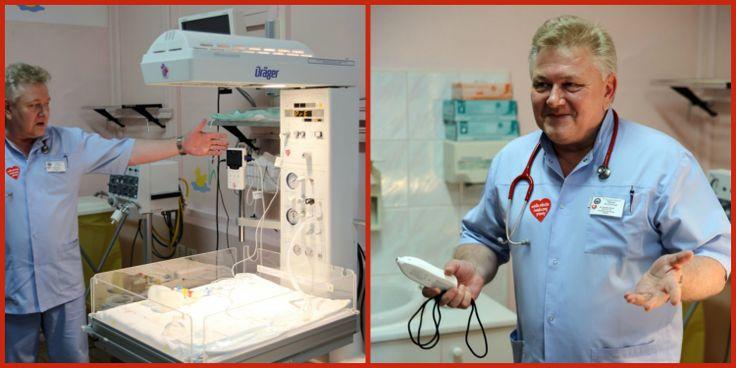 """Ten uśmiech mówi wszystko:) A tak skomentowany został sprzęt zakupiony przez WOŚP- """"To dla nas ogromna radość. Cieszymy się z każdego urządzenia, dzięki któremu będziemy mogli jeszcze lepiej zadbać o życie i zdrowie maleńkich dzieci """"– mówi Bogdan Niżnik, ordynator Oddziału Noworodkowego."""