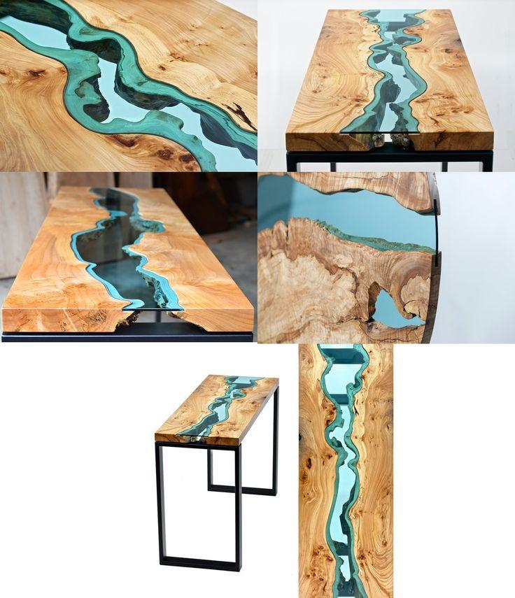 Tavolo legno e vetro - design Wood and glass table - design