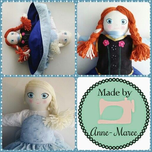 Frozen inspired Dolls Flip-Flop Topsy-Turvy style of Anna and Elsa These are handmade and designed by me.