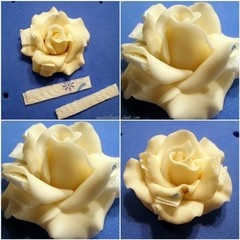 Rose tutorial * I don't know if this is food or not because it needs translation but I could see how one might use the techniques for fondant