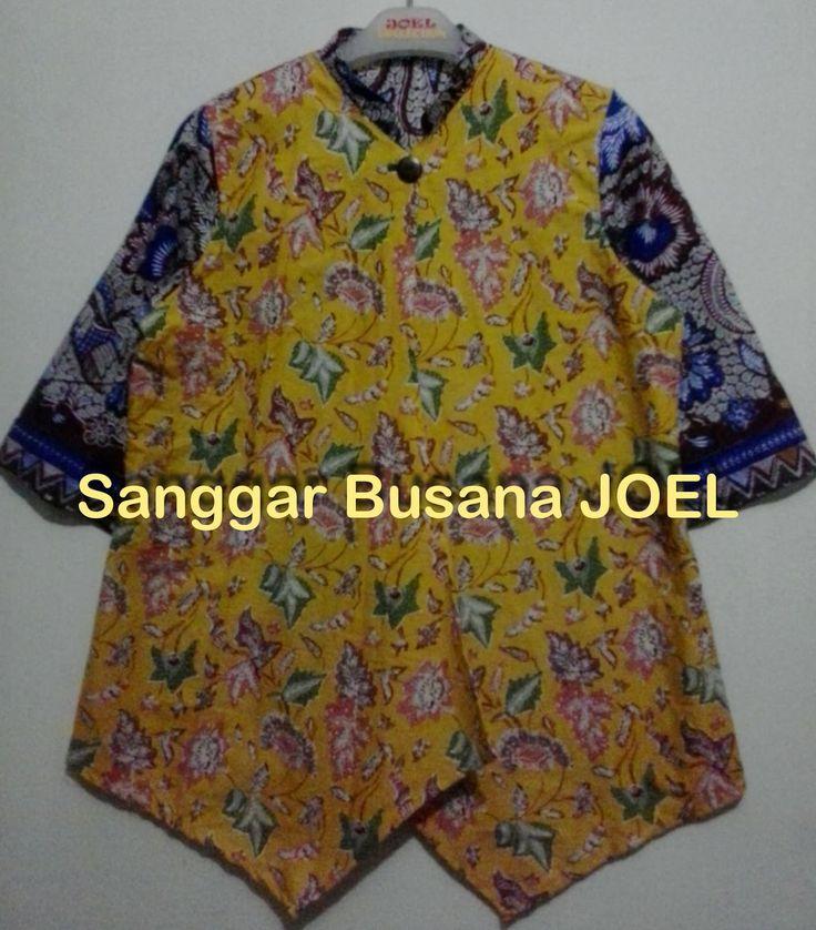 Blus Batik - Variasi Kuning Biru