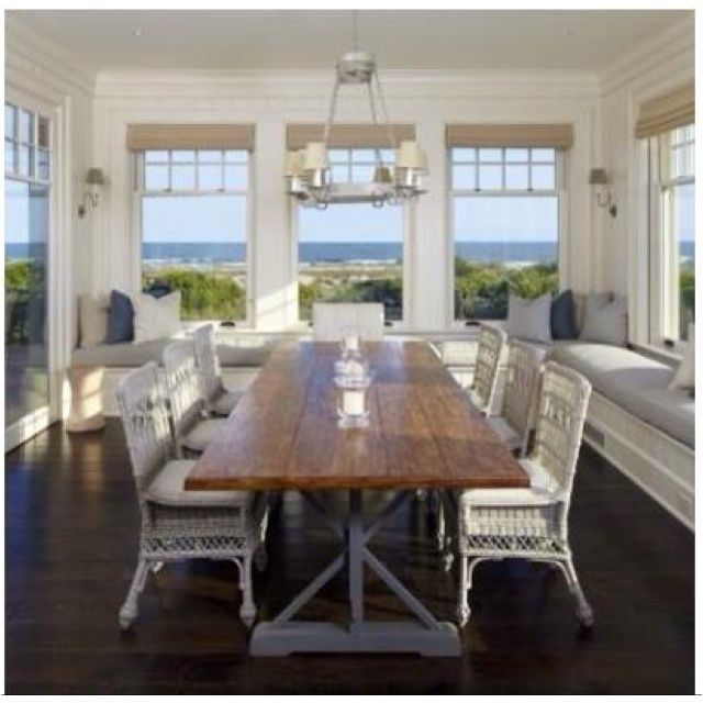 What Is Not To Love About This Dining Space Awesome Wrap Around Bench And Gorgeous Views Make Room Extraordinary Traditional By The