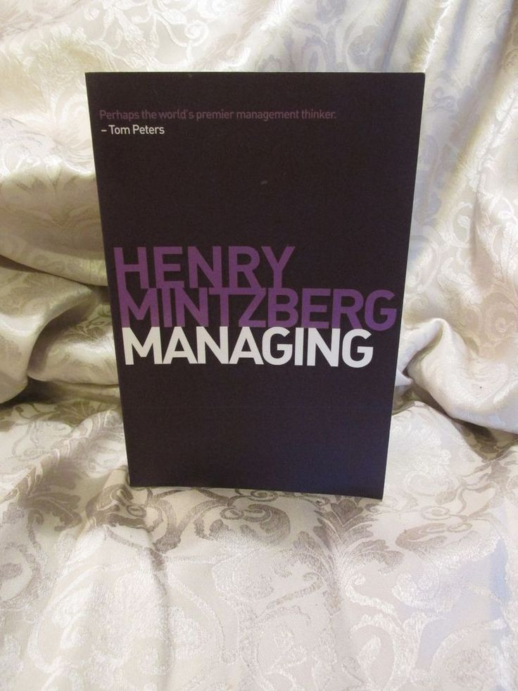 2011 Henry Mintzberg Managing Textbook College #Textbook