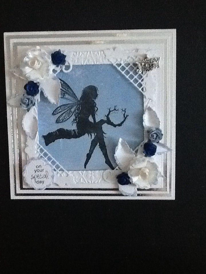 Made with the grand square dies and my new Lavinia stamp