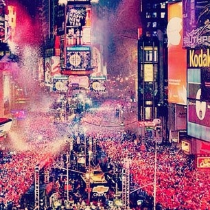 Times Square on New Years Eve, NYC