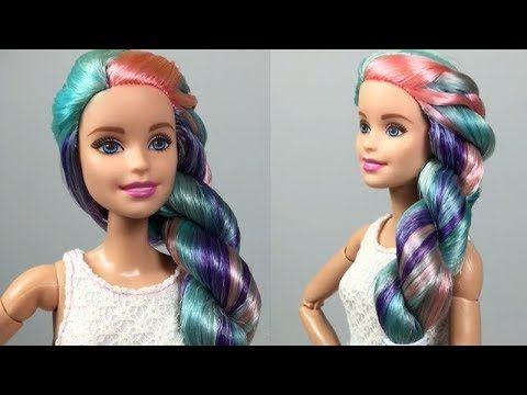 Barbie Hair 👸 How To Make Barbie Hairstyle 👸 Barbie Hair Transformation #21 - YouTube