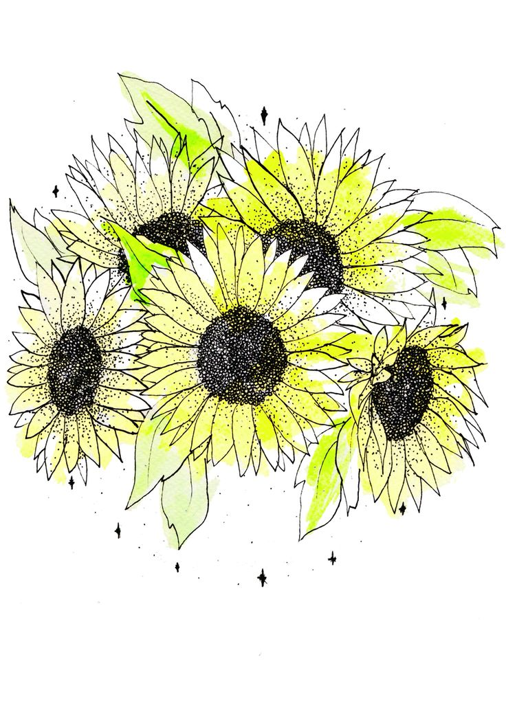 Sunflower Round Print available from jadecrumps.bigcartel.com