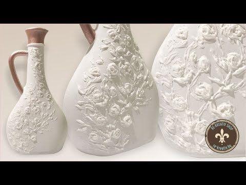 Recycling - vintage stílusú üveg modellező pasztával